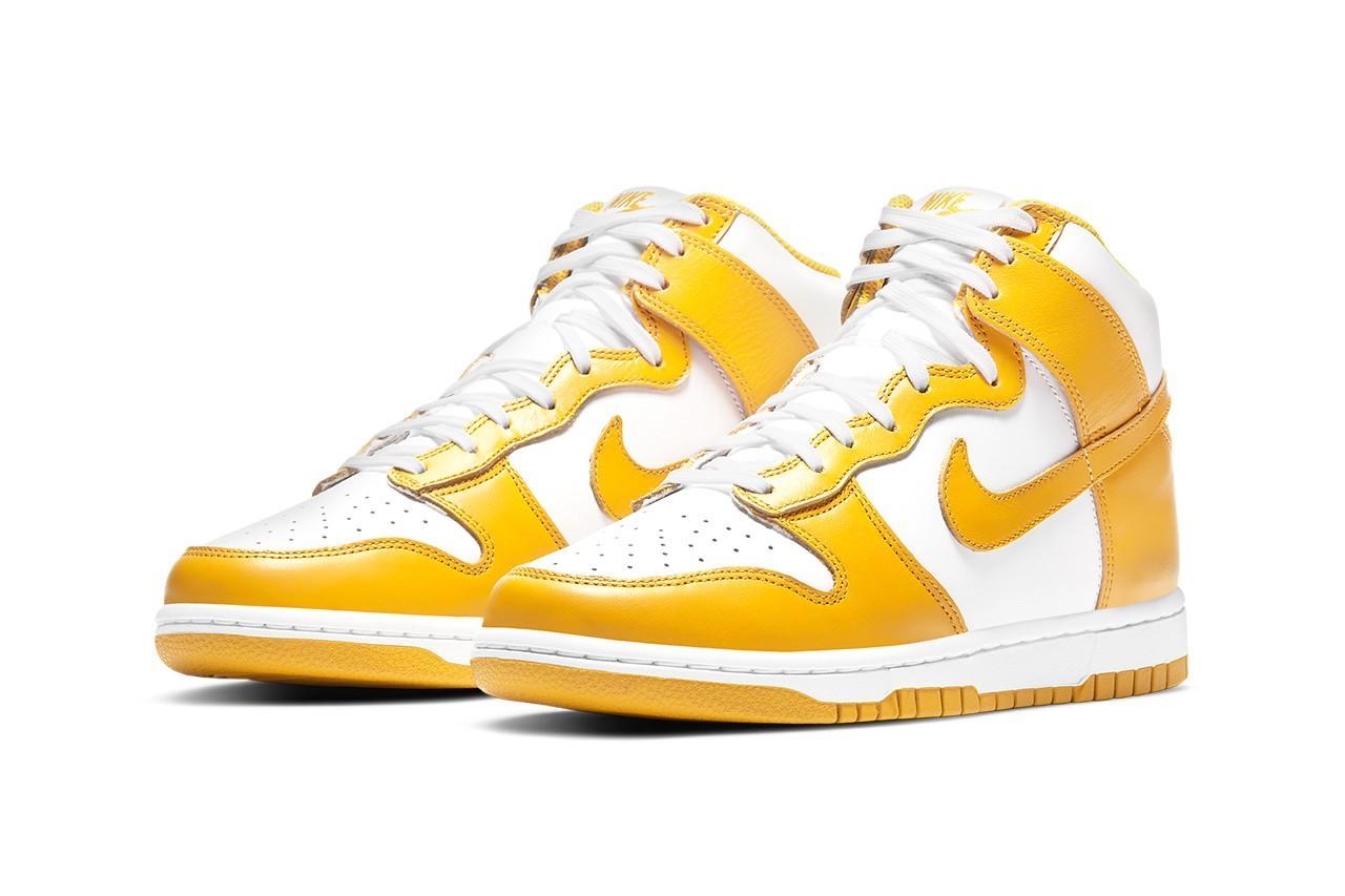 Высокие Nike Dunk вбело-жёлтых цветах скоро впродаже