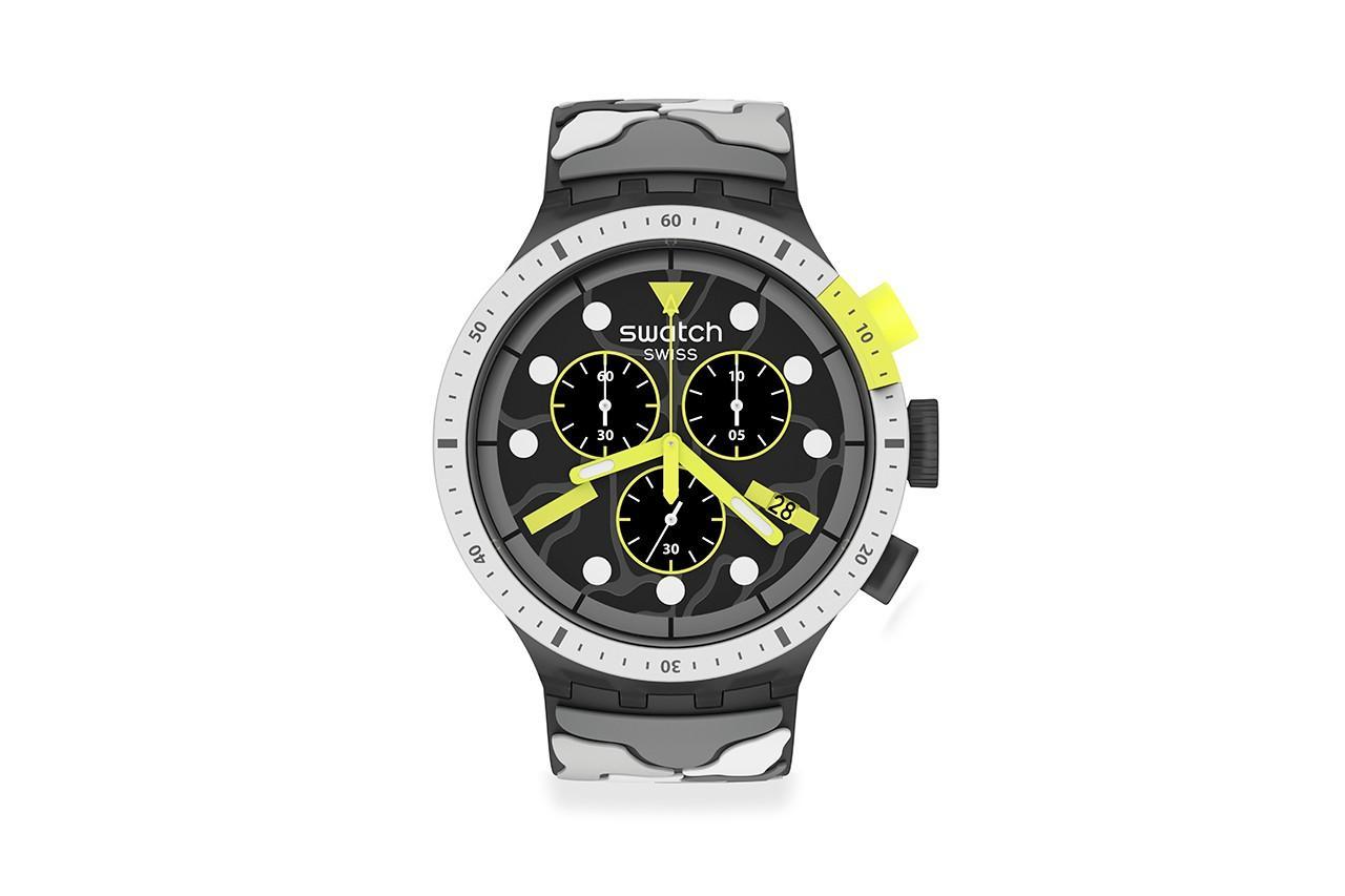 Swatch показала недорогой хронограф ESCAPEARTIC в4 расцветках